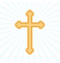 Religion cross flat icon vector