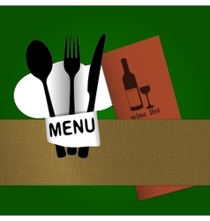 restaurant menu with chef hat chef wine list vector image