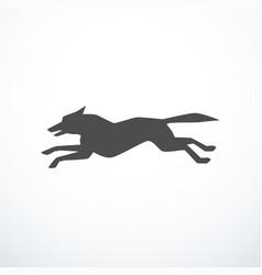 Running dog silhouette vector