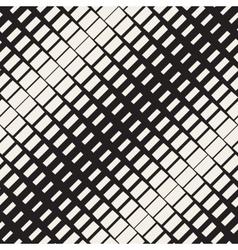 Seamless Black And White Diagonal Rectangle vector image
