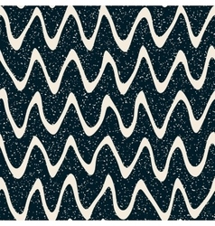 Seamless hand drawn wavy distorted lines vector