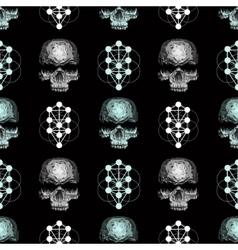 seamless pattern skull vector image vector image