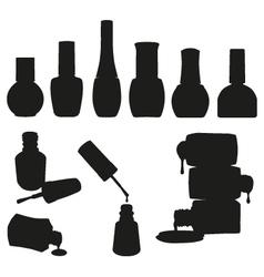 Set of nail polish bottles vector