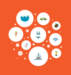 set of season icons flat style symbols with vector image vector image