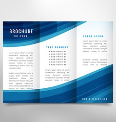 Stylish business trifold brochure vector