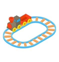 Toy train icon cartoon style vector