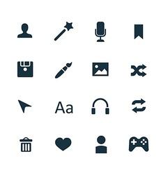 webdesign icons set vector image