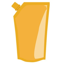 Yellow sauce package vector