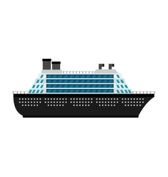 Ship cruise boat icon vector