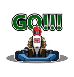 Go Gokart Race vector image