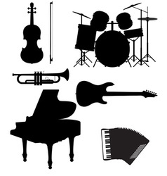 Set musical instruments 02 vector
