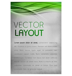 background green layout vector image