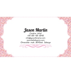 Business woman business card vector