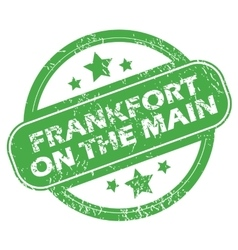 Frankfort on main green stamp vector
