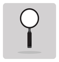 Flat icon magnifying glass vector