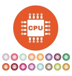 The cpu icon microprocessor and processor symbol vector