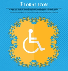Disabled floral flat design on a blue abstract vector