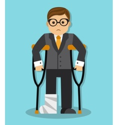 Businessman invalid vector
