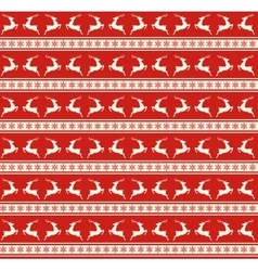 Seamless christmas traditional pattern with deers vector