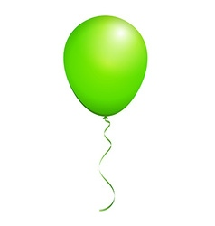Color glossy green balloon isolated on white in vector