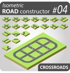 Isometric road constructor - 03 vector