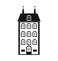 House with three floors icon simple style vector