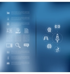 Medical infographic with unfocused background vector