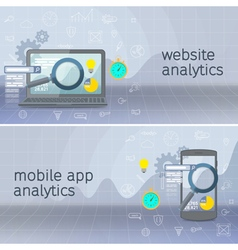 Website analytics search information vector