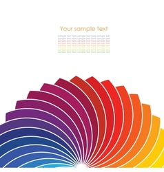 Abstract background with spectrum wheels vector image vector image