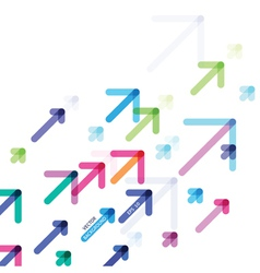 Abstract design with colorful arrows vector