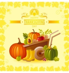 Autumn thanksgiving vector