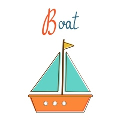 B is for boat vector image vector image
