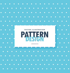 Blue polka dots pattern background vector