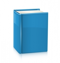 book with blue cover vector image vector image