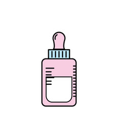 bottle feeding with healthy milk icon vector image vector image