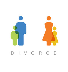 Divorce concept vector