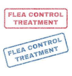 Flea control treatment textile stamps vector
