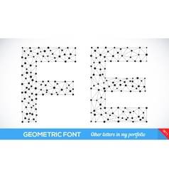Geometric type font vector image vector image