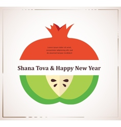 Greeting card for Jewish New Year rosh hashana vector image vector image