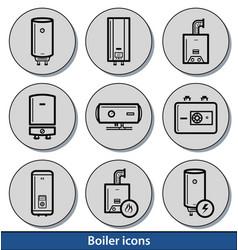 Light boiler icons vector