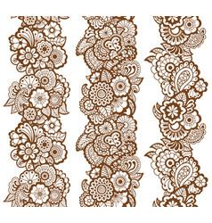 mehndi ribbons paisley design vector image