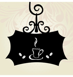 retro coffee signboard vector image