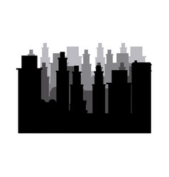 Silhouette cityscape scene night time vector