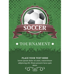 Soccer tournament background design with soccer vector