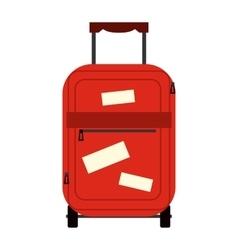 Suitecase flat icon vector image