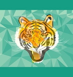 Tiger anger geometric style vector image vector image