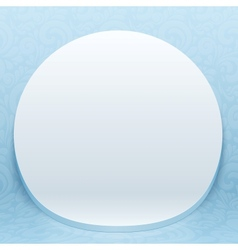 White realistic plastic round backdrop vector