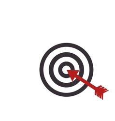 Target arrow dartboard vector