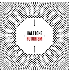 Halftone dot design technology frame background vector