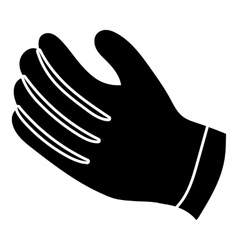 Winter gloves icon simple style vector